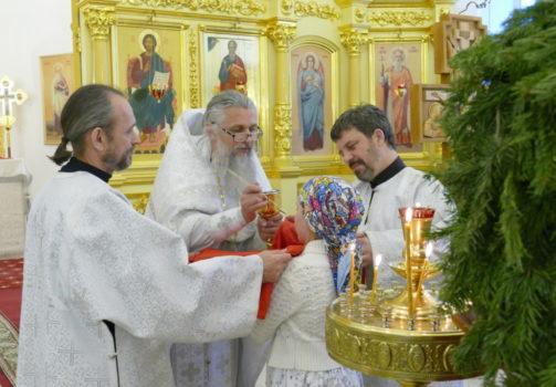 Обедница и Рождественский праздник в воскресной школе